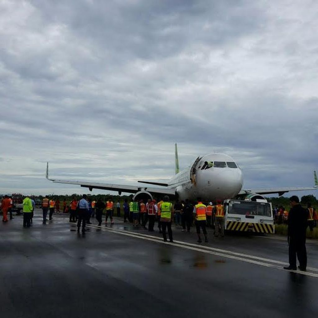 Evakuasi Citilink Tergelincir Selesai, Bandara Minangkabau Segera Beroperasi Lagi
