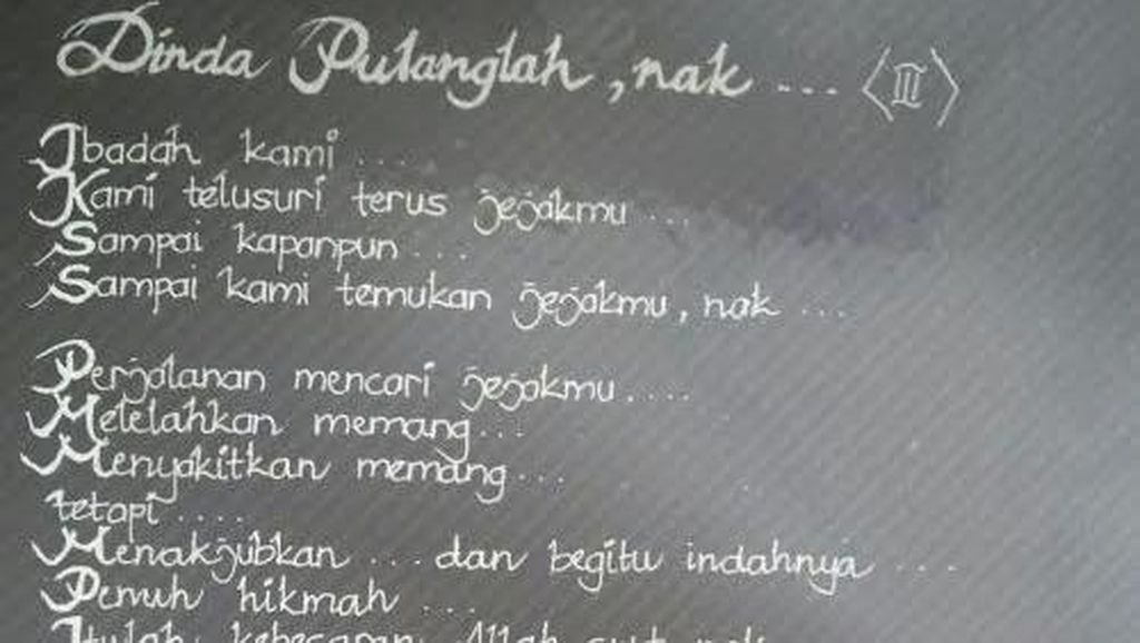 Anak Hilang Sejak Tahun 1997 Lalu, Bait Puisi Rindu Sang Ibu untuk Dinda