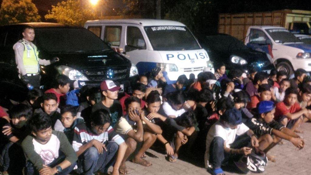 Puluhan Pembalap Liar Terjaring Razia di Tangerang, 43 Motor Diangkut Polisi