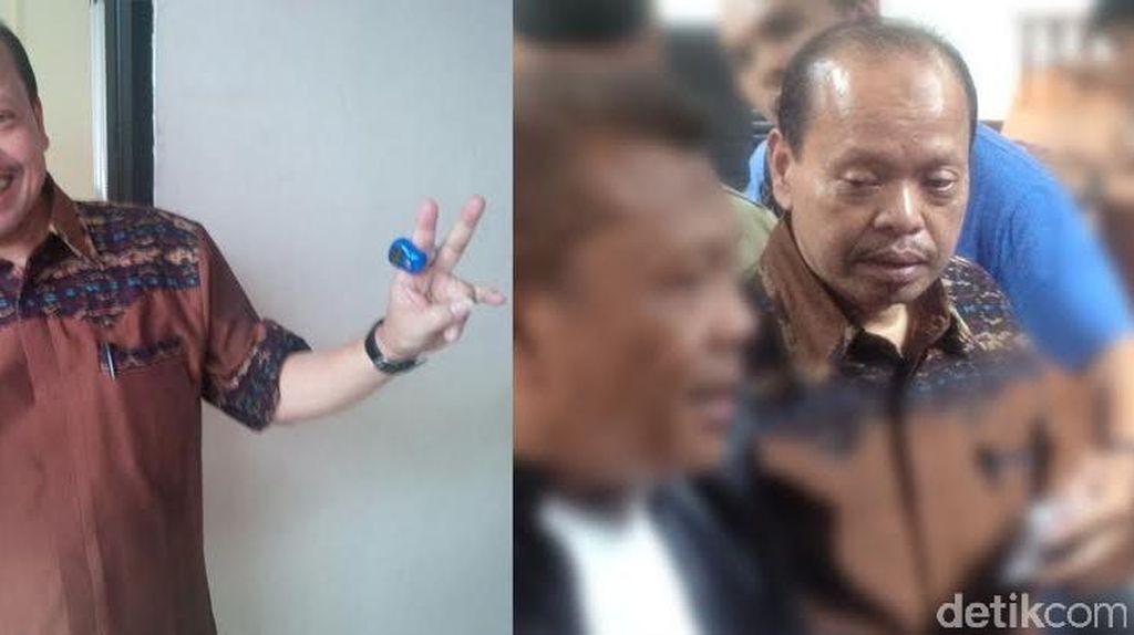 Ceria Berganti Mendung, Ekspresi Sutan Bhatoegana Setelah Divonis 10 Tahun