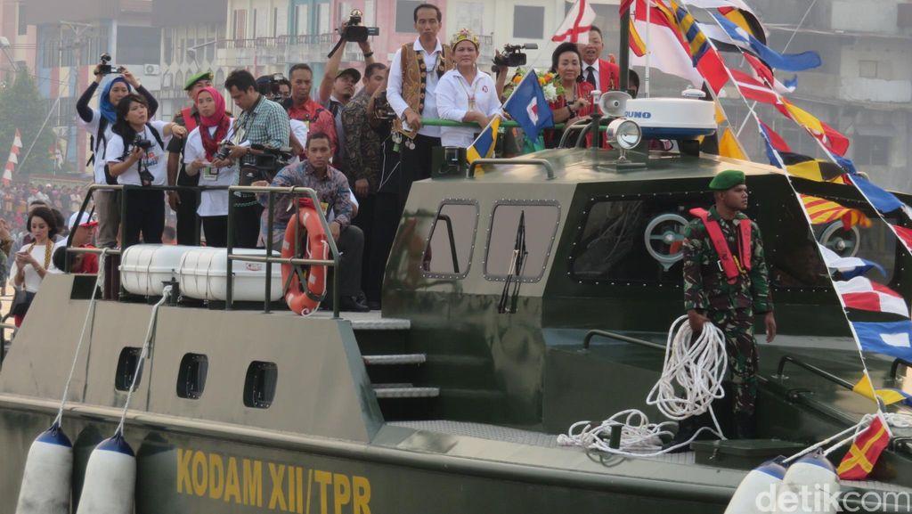 Langit Cerah Layar Terkembang, Parade Air Pertama di Pontianak dengan Jokowi