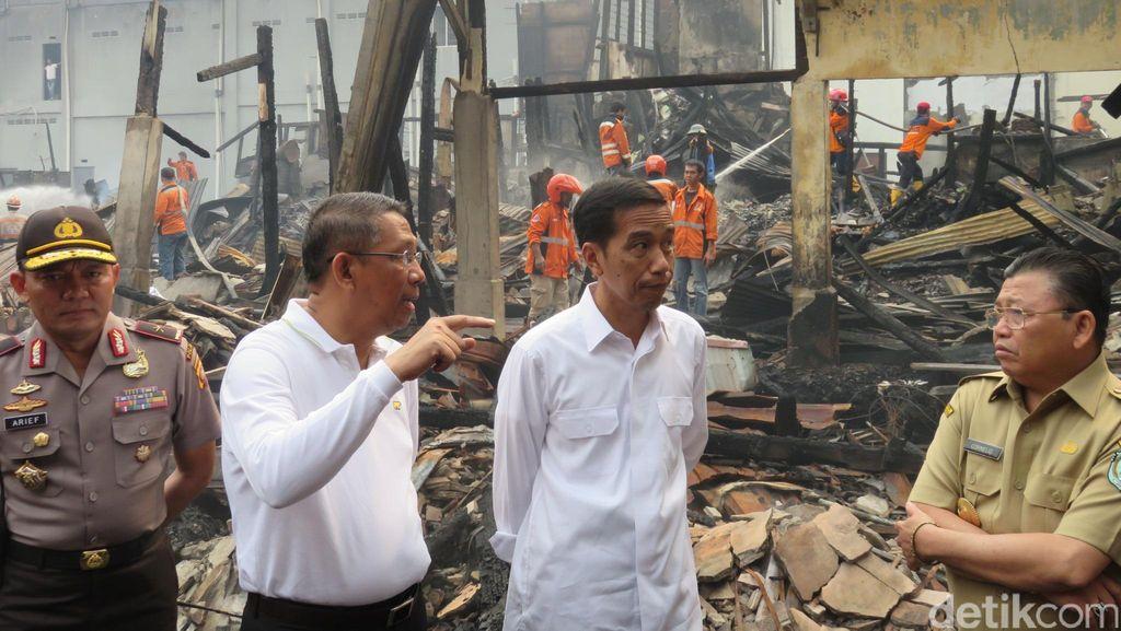 Jokowi Ingin Pasar Tengah yang Terbakar Tetap Jadi Ikon Pontianak
