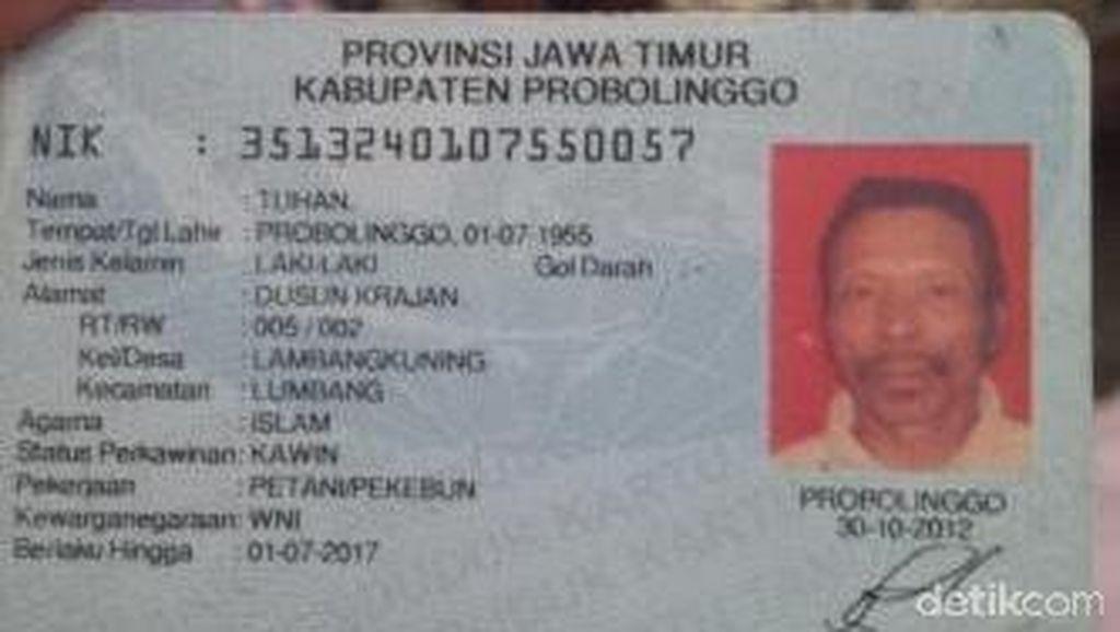 Ternyata Pria Bernama Tuhan Juga Ada di Probolinggo!