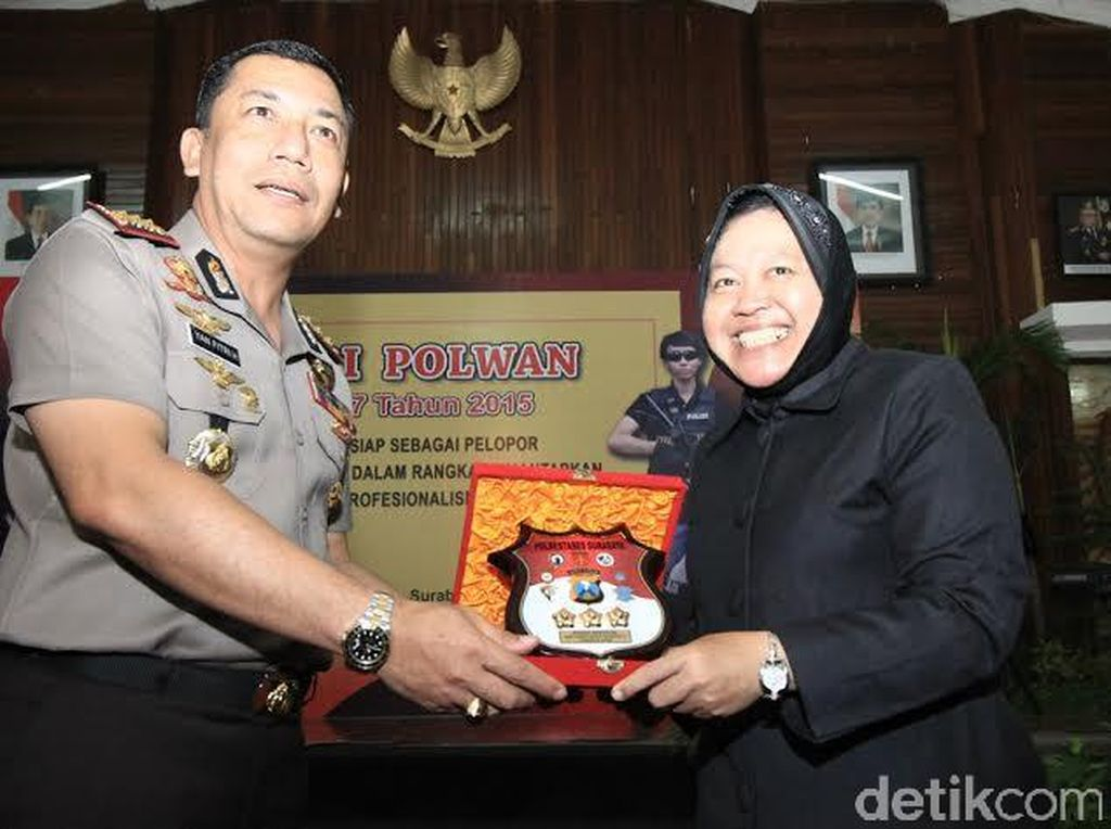 Polrestabes Surabaya Kukuhkan Risma Jadi Motivator Polwan
