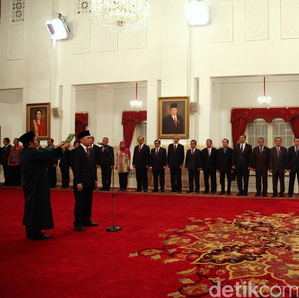 Elite Parpol dan Pejabat Negara Hadiri Pelantikan 7 Gubernur di Istana