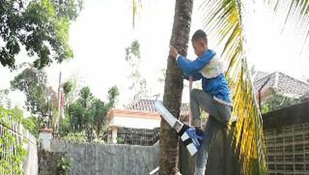 2 Siswa SD Temukan Alat Pemanjat Pohon Kelapa yang Fleksibel dan Praktis