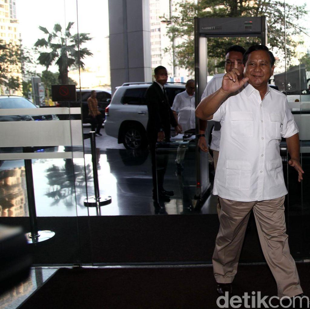 Prabowo Hadiri Silaturahmi KMP di Kantor PKS