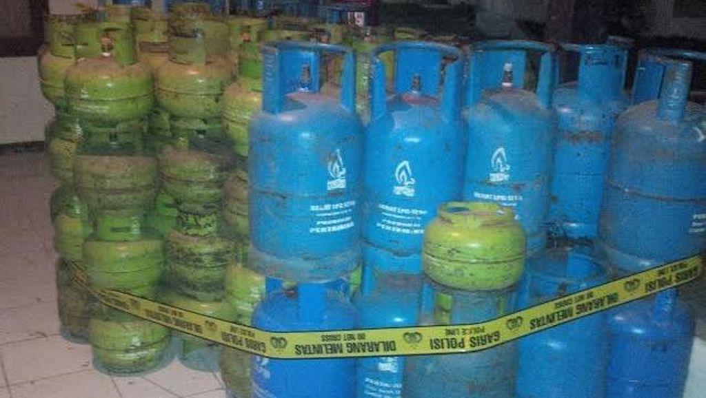 Polisi Gerebek Rumah Koruptor Gas Elpiji 3 Kg di Bogor