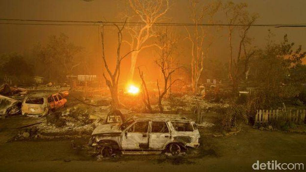 Kebakaran Hutan Juga Melanda California, Puluhan Ribu Orang Mengungsi