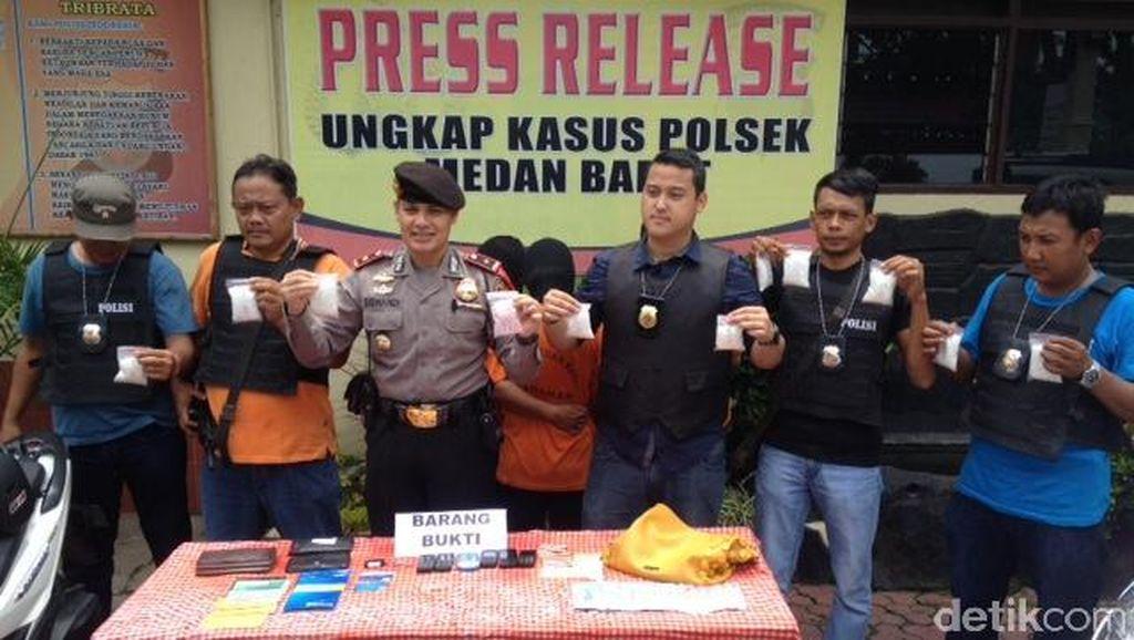 3 Kurir Sabu Internasional Diringkus di Medan, 1 Kg Sabu Diamankan