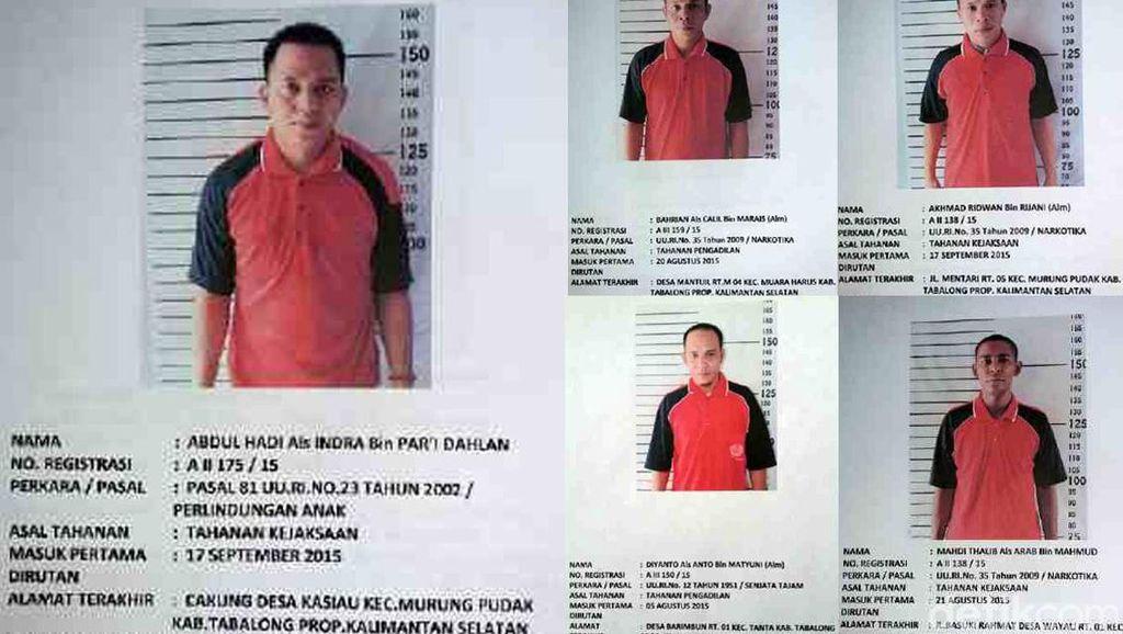 Potong Terali Besi, 5 Tahanan Berbahaya Kabur dari Penjara