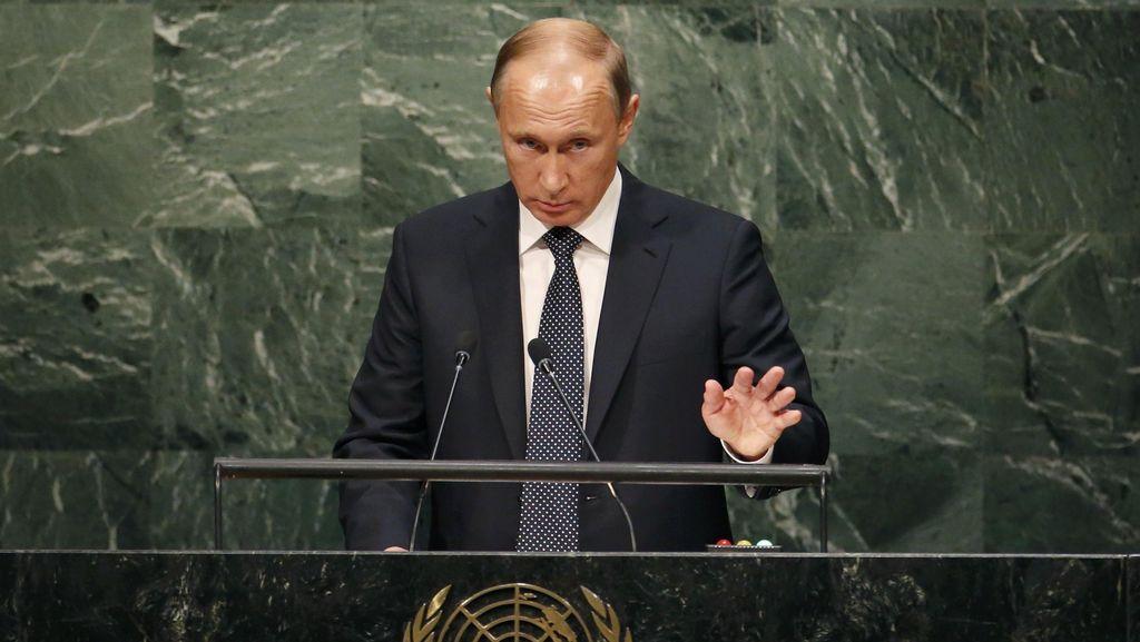 Pidato Putin di PBB: Singgung Suriah, Angkat Bahu Untuk Ukraina