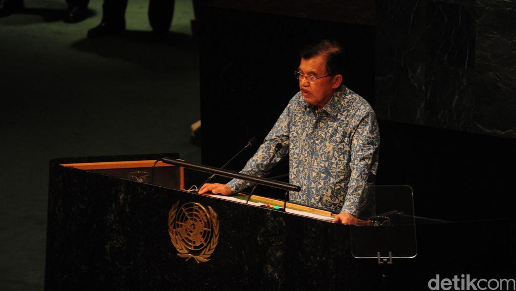 Wapres JK Kenakan Kemeja Batik Indonesia Saat Sidang PBB