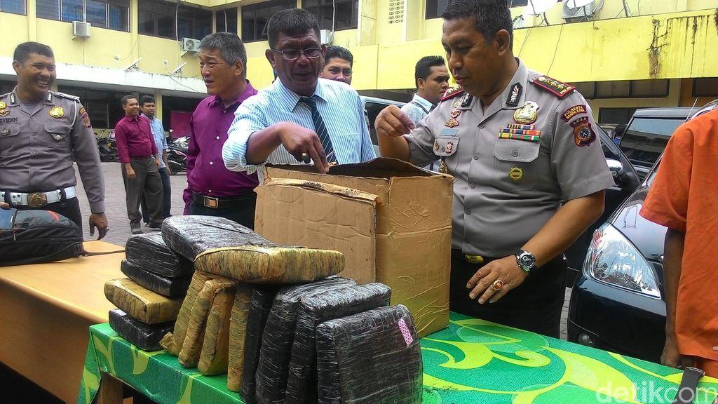 Dodol Ganja 15 Kg Disita di Aceh Besar saat akan Dikirim ke Tangerang