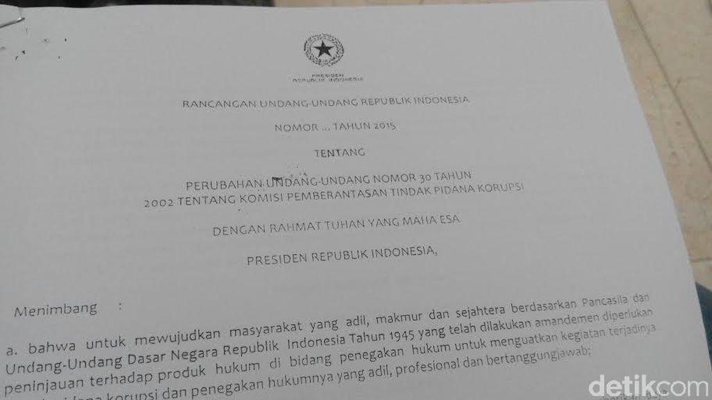 RUU KPK Masih Hidup Meski Sudah Dicabut Jokowi, Kok Bisa?