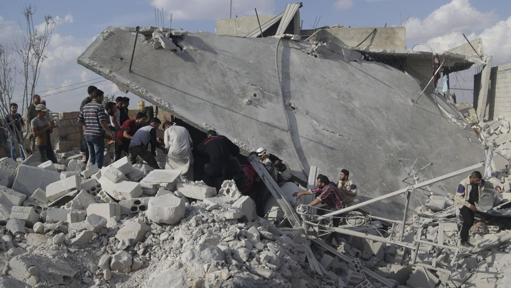 Serangan Udara Rusia Tewaskan 23 Warga Sipil Suriah, Termasuk 7 Anak-anak