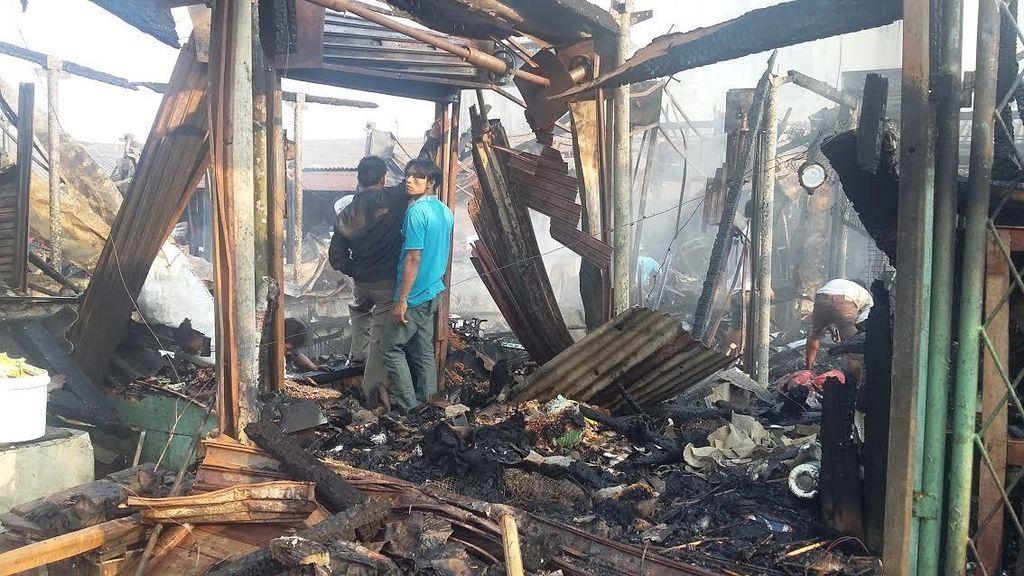 Pedagang Pasar Inpres Tanah Abang Duga Kebakaran karena Korsleting Listrik