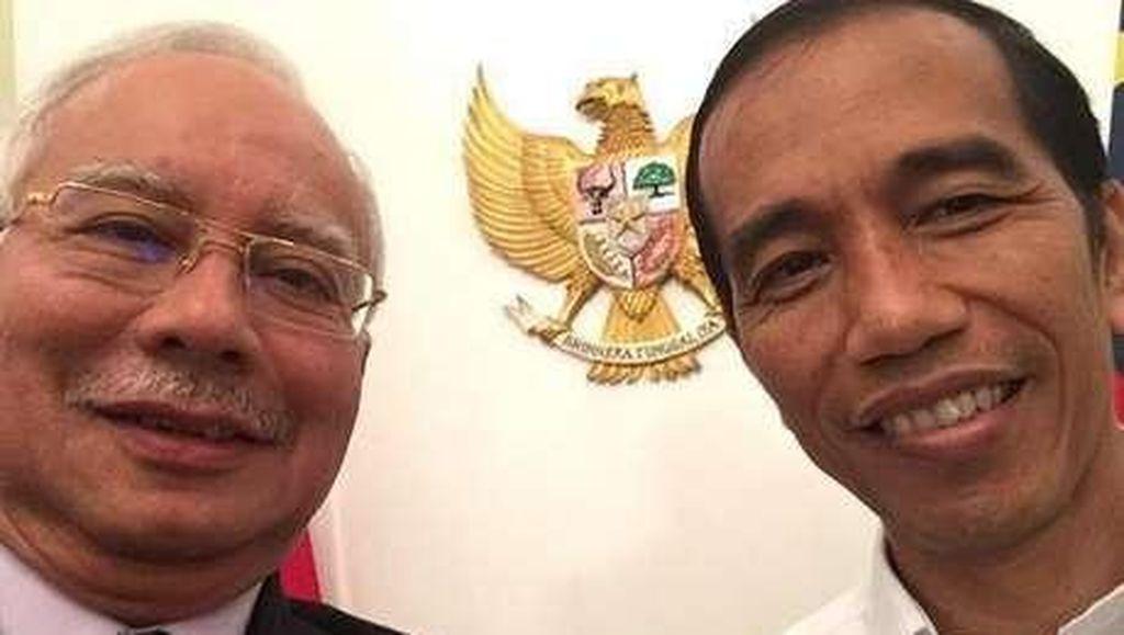 PM Najib Temui Jokowi di Istana Bogor, Bahas Isu Lingkungan