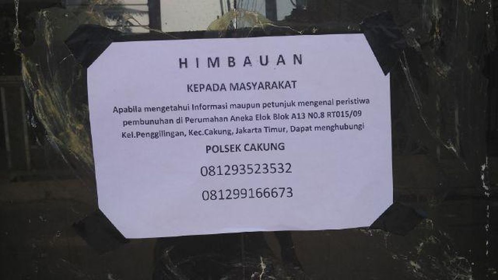 Polisi Terus Gali Informasi untuk Ungkap Pembunuhan Ibu dan Anak di Cakung