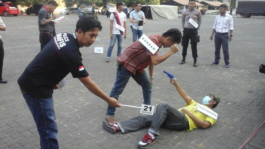 Polda Sulsel Gelar Rekonstruksi Penembakan Anggota TNI