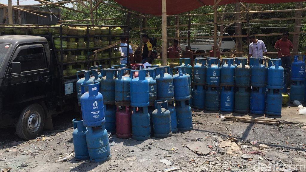 Pabrik Gas Oplosan di Cibitung Bekasi Digerebek, Ribuan Tabung Disita
