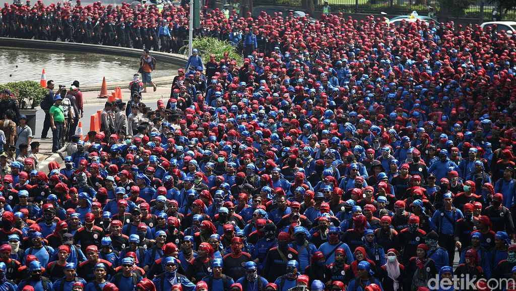 Besok Ribuan Buruh Aksi Mogok, Polisi Turunkan Kekuatan 6 Ribu Personel