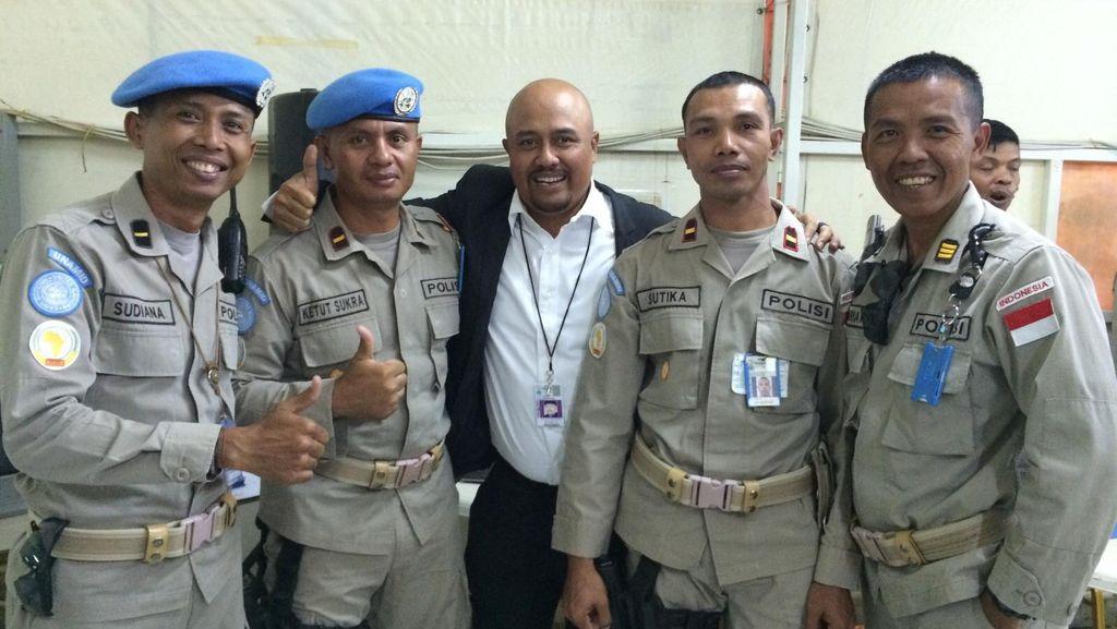 Kunjungi Sudan, Anggota Komisi III DPR Temui Pasukan Garuda Bhayangkara
