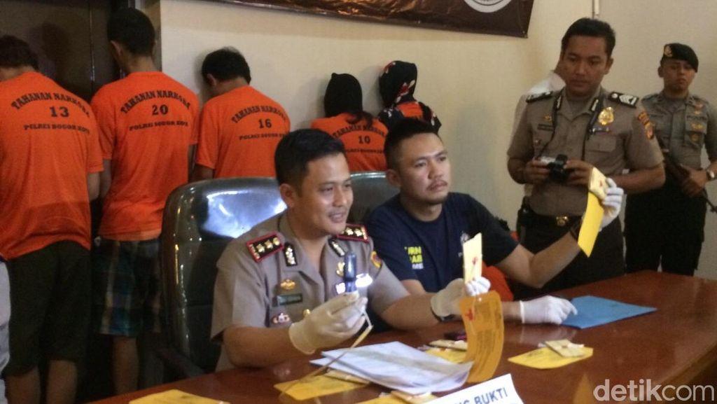 Ibu Rumah Tangga Ditangkap Polres Bogor Saat Pesta Sabu
