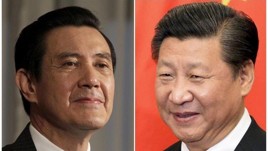 Pemimpin China dan Taiwan Berjabat Tangan dalam Pertemuan Bersejarah