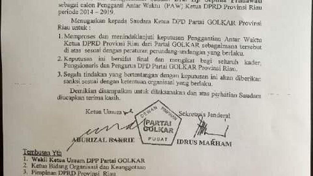 Ditunjuk Ical Jadi Ketua DPRD, Istri Rusli Zainal Dapat Dukungan Tokoh Riau