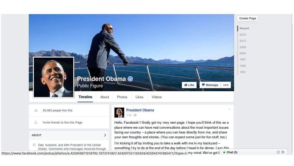 Luncurkan Fan Page Facebook, Obama Bicara Soal Perubahan Iklim