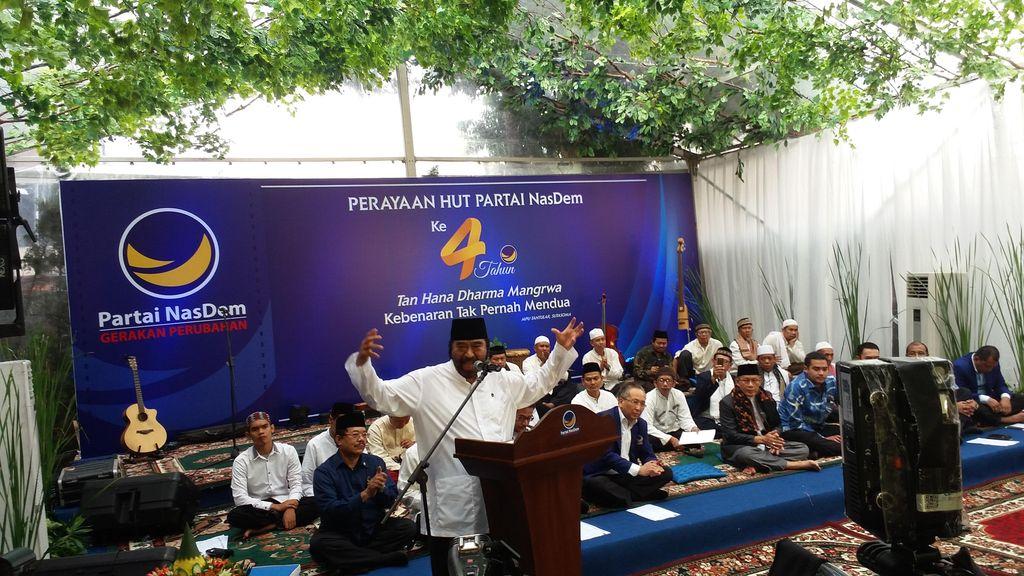 HUT ke-4 Partai NasDem, Surya Paloh Undang 1.000 Anak Yatim