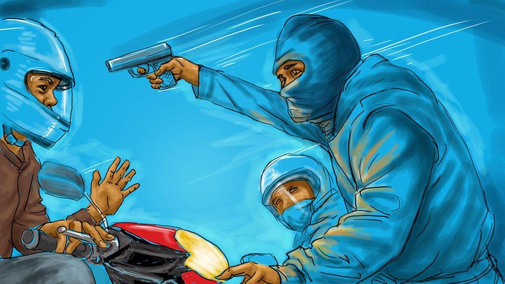 Begal Bersenpi Komplotan Lampung Ditangkap Polres Jaksel