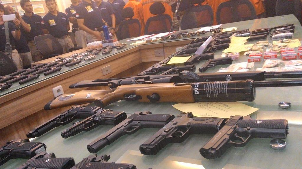 Polda Metro Tarik 1.428 Pucuk Senjata Api di Kalangan Sipil