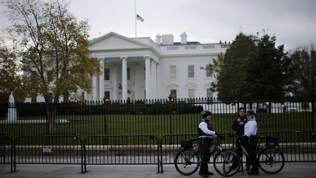 Nekat Panjat Pagar Gedung Putih, Pria AS Ditangkap Secret Service
