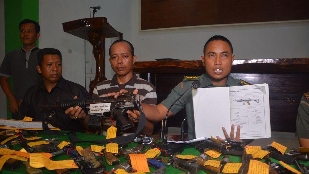 Jelang Pilkada, TNI Sita 168 Senjata Api dari Warga Lampung