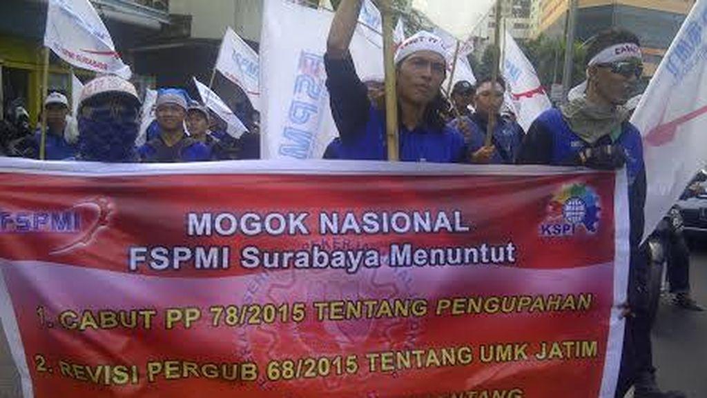 Puncak Aksi Mogok Kerja dan Unjuk Rasa Buruh Hari ini