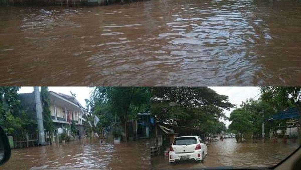 Sekolah Elit SMA 8 Jakarta Terendam Banjir