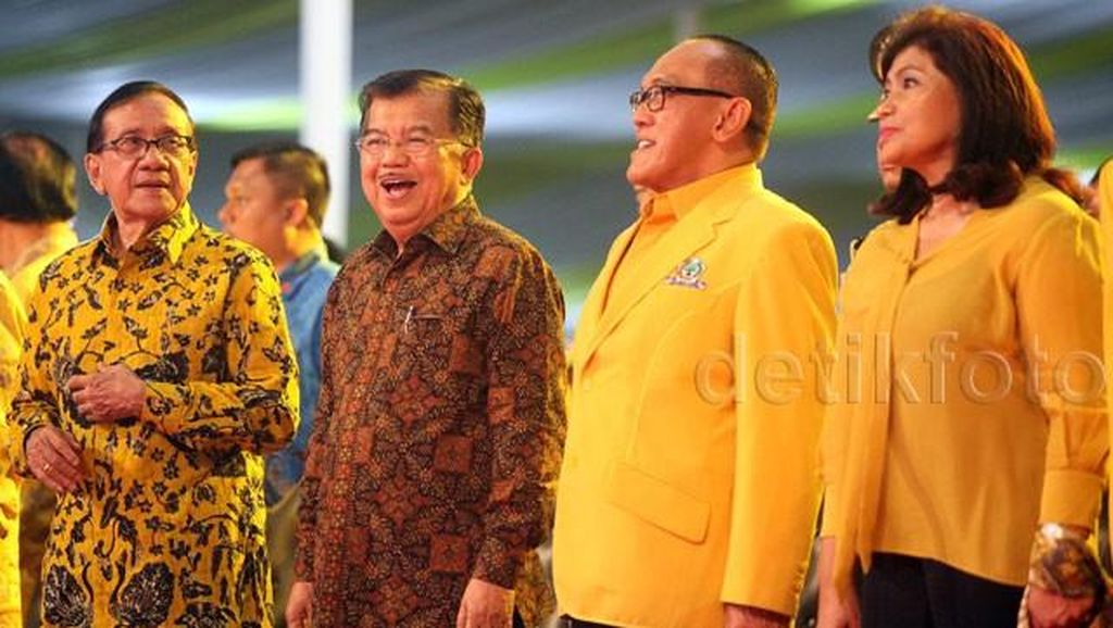 Pidato di Acara Golkar, JK Candai Ical dan Prabowo
