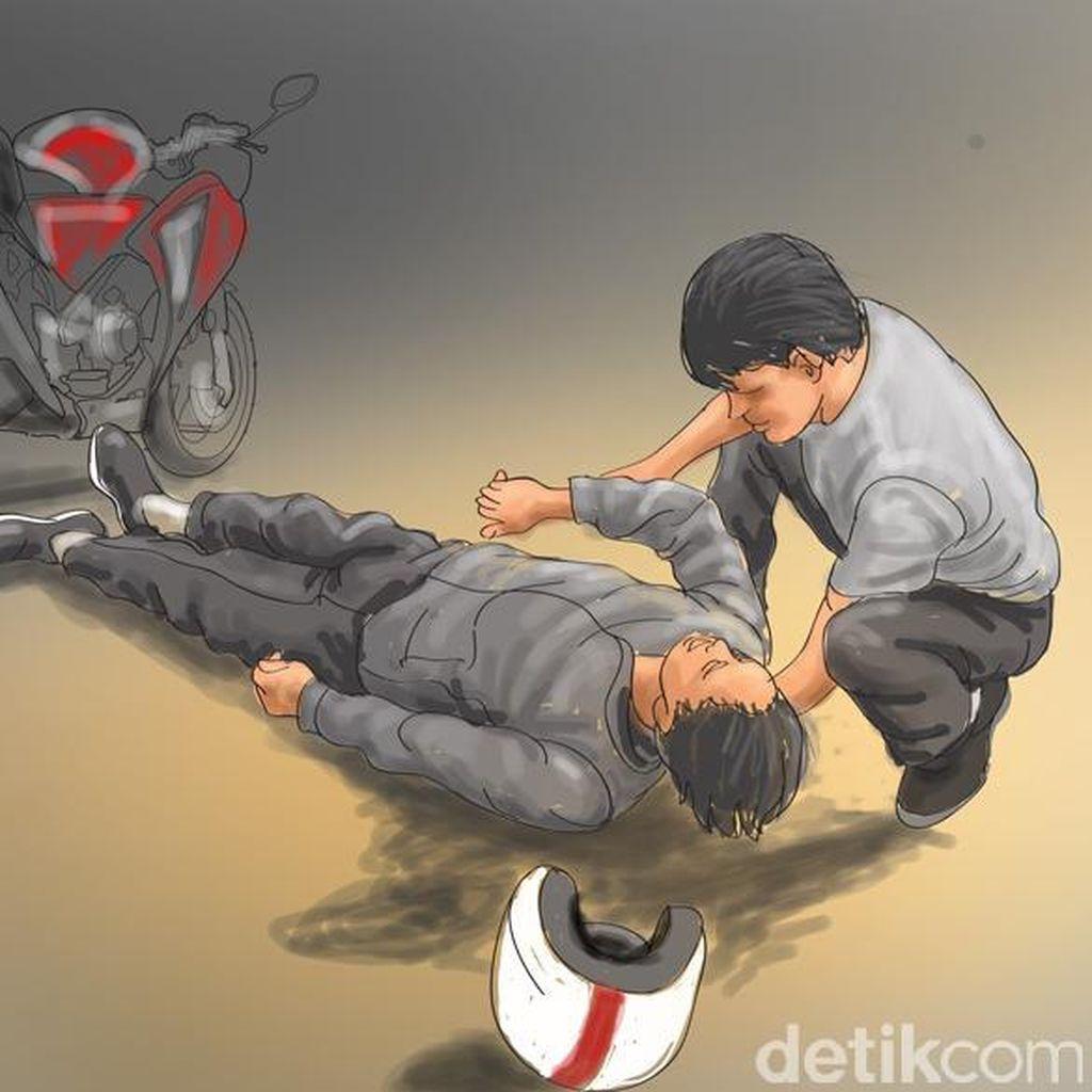 Polisi Gelar Olah TKP di Lokasi Kecelakaan Toyota Fortuner dan 2 Motor