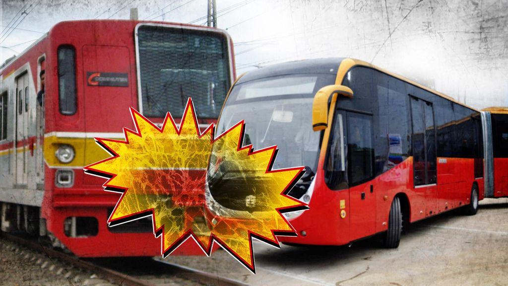 Bus TransJ Tertabrak KRL karena Sopir Diduga Lalai, ini Sanksi yang Mengancam