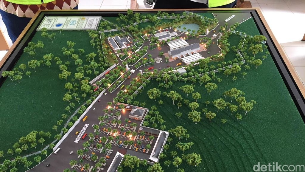 Sedang Dibangun, Begini Megahnya Pos Perbatasan RI-Malaysia di Entikong