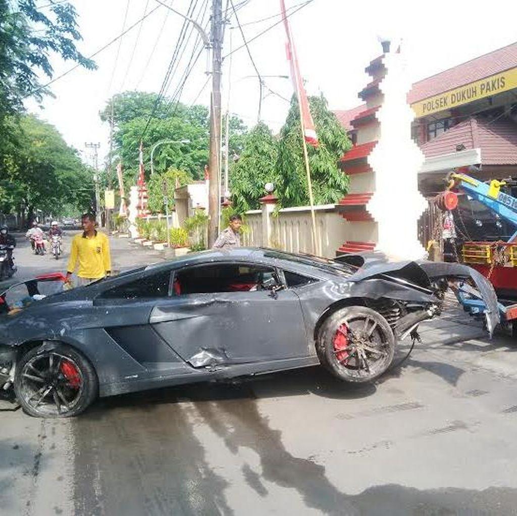 Bawa Tersangka, Polisi Gelar Olah TKP Lamborghini Tabrak Warung STMJ Pagi Ini