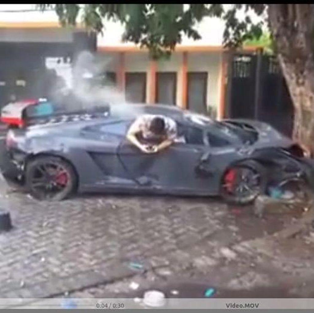 Wiyang Pengemudi Lamborghini Belum Diperiksa karena Masih Dirawat di RS