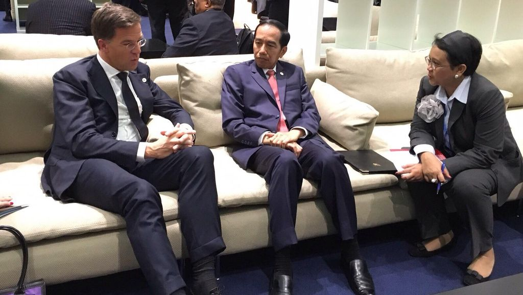 Bertemu PM Belanda, Jokowi Bahas Kerja Sama Bangun Deep Seaport Dilanjutkan