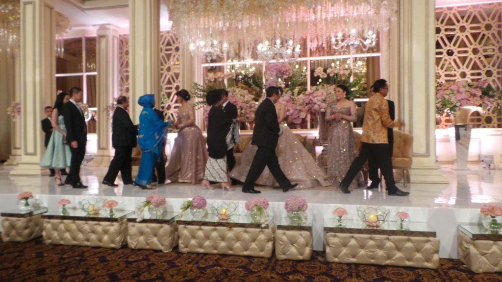Begini Suasana Meriah Pesta Resepsi Pernikahan Putri Novanto