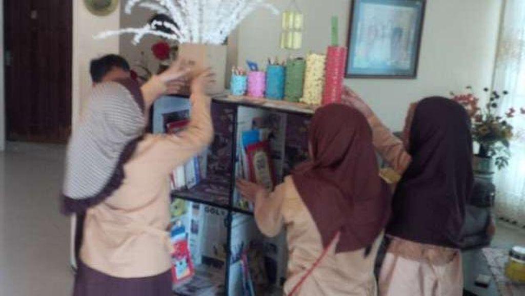 Siswa SD di Makassar ini Buat Perpustakaan dan Mengelolanya Sendiri