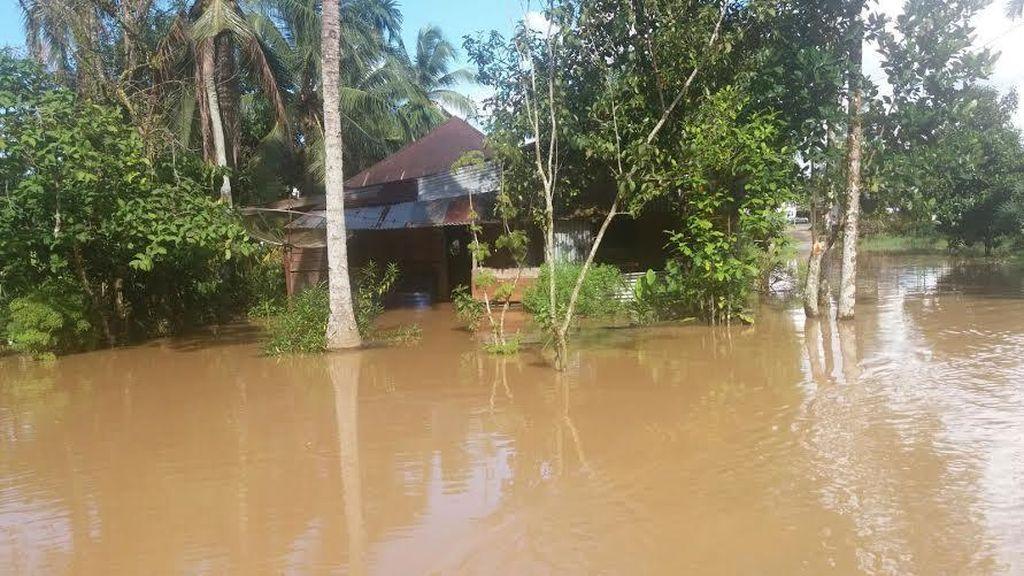 Diterjang Banjir, Pemkab Rokan Hulu Tetapkan Siaga Darurat