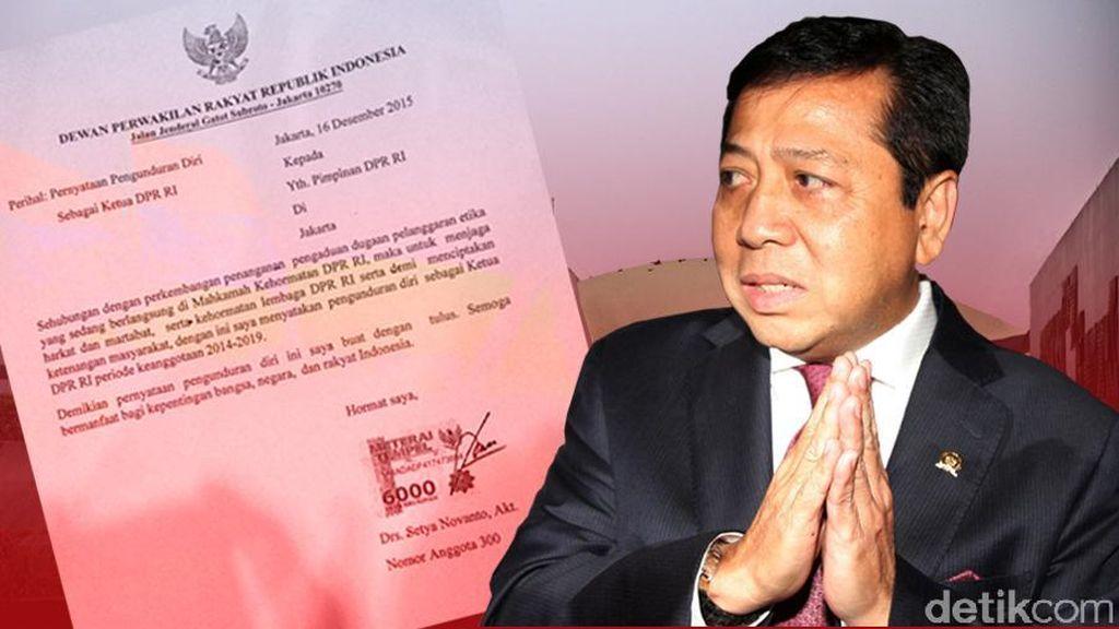 Panasnya Kasus Papa Minta Saham, Mundurnya Novanto dari Kursi Ketua DPR