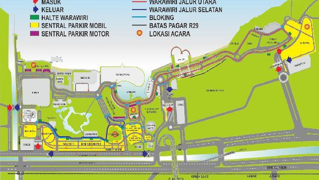 Ancol Siapkan 4 Lokasi Parkir dan Shuttle Bus untuk Pesta Tahun Baru